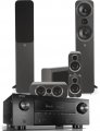 Denon AVR-X3500H AV Receiver w/ Q Acoustics 3050i Floorstanding Speakers (5.1)