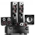 Denon AVR-X3500H AV Receiver w/ Dali Zensor 5 Floorstanding Speaker Package 5.1