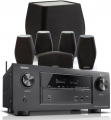 Denon AVR-X3400H AV Receiver w/ Monitor Audio MASS Speaker Package (5.1)