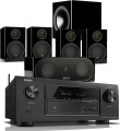 Denon AVR-X3500H AV Receiver w/ Monitor Audio Radius R90HT1 Speaker Package