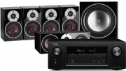 Denon AVR-X3400H AV Receiver w/ Dali Zensor 1 Bookshelf Speaker Package 5.1