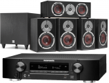 Marantz NR1710 AV Receiver w/ Dali Spektor 2 5.1 Speaker Package