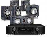 Marantz NR1710 AV Receiver w/ Monitor Audio Bronze 2 5.1 Speaker Package