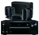 Onkyo TX-NR676E AV Receiver w/ Q Acoustics 7000i Slim Speaker Package 5.1