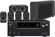 Onkyo TX-NR686E AV Receiver w/ Q Acoustics 3010i Speaker Package 5.1