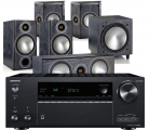 Onkyo TX-NR686 AV Receiver w/ Monitor Audio Bronze 2 5.1 Speaker Package