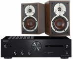 Onkyo A-9110 Integrated Amplifier w/ Dali Spektor 2 Speakers