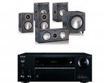 Onkyo TX-NR575E AV Receiver w/ Monitor Audio Bronze 1 Speaker Package 5.1