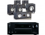 Onkyo TX-NR474 AV Receiver w/ Monitor Audio Bronze 2 Speaker Package 5.1