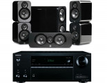 Onkyo TX-NR575E AV Receiver w/ Q Acoustics 3000 Speaker Package 5.1