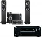 Onkyo TX-NR575E AV Receiver w/ Q Acoustics 3050 Speaker Package 5.1