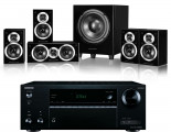 Onkyo TX-NR474 AV Receiver w/ Wharfedale DX-1SE Speaker Package 5.1