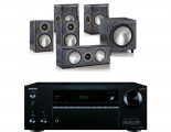 Onkyo TX-NR676E AV Receiver  w/ Monitor Audio Bronze 1 Speaker Package 5.1