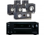 Onkyo TX-NR676E AV Receiver w/ Monitor Audio Bronze B2 Speaker Package 5.1