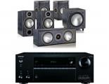 Onkyo TX-NR686E AV Receiver w/ Monitor Audio Bronze B2 Speaker Package 5.1