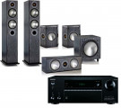 Onkyo TX-NR676E AV Receiver w/ Monitor Audio Bronze B5 Speaker Package 5.1