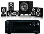 Onkyo TX-NR676E AV Receiver w/ Wharfedale DX-1SE Speaker Package 5.1