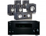 Onkyo TX-RZ820 AV Receiver w/ Monitor Audio Bronze B2 AV Speaker Package 5.1