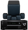 Onkyo TX-SR393 AV Receiver w/ Monitor Audio MASS Gen2 Speaker Package 5.1