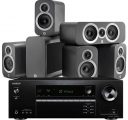 Onkyo TX-SR393 AV Receiver w/ Q Acoustics 3010i 5.1 Speaker Package