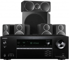 Onkyo TX-SR393 AV Receiver w/ Wharfedale DX-2 Speaker Package (5.1)