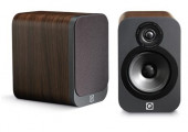 Q Acoustics 3020 Speakers (Open Box, Walnut)