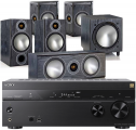 Sony STR-DN1080 AV Receiver w/ Monitor Audio Bronze 2 AV Speaker Package 5.1