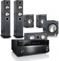 Yamaha RX-A1080 AV Receiver w/ Monitor Audio Bronze B5 Floorstanding Speaker Package 5.1