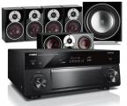 Yamaha RX-A1080 AV Receiver w/ Dali Zensor 1 Bookshelf Speaker Package 5.1