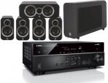 Yamaha RX-V585 AV Receiver w/ Q Acoustics 3010i Speaker Package 5.1