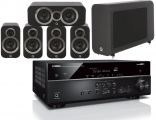Yamaha RX-V585 AV Receiver w/ Q Acoustics 3010i Cinema Pack 5.1