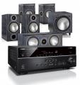Yamaha RX-V585 AV Receiver w/ Monitor Audio Bronze 2 Speaker Package 5.1