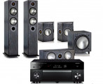 Yamaha RX-A1070 AV Receiver w/ Monitor Audio Bronze B5 Floorstanding Speaker Package 5.1