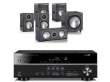 Yamaha RX-V481 AV Receiver w/ Monitor Audio Bronze 1 Speaker Package 5.1