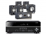 Yamaha RX-V481 AV Receiver w/ Monitor Audio Bronze 2 Speaker Package 5.1