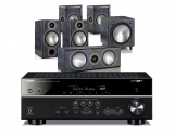 Yamaha RX-V585 AV Receiver w/ Monitor Audio Bronze B2 Speaker Package 5.1