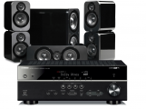 Yamaha RX-V583 AV Receiver w/ Q Acoustics 3000 Speaker Package 5.1