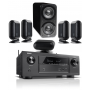 Denon AVR-X2400H AV Receiver w/ Q Acoustics Q7000i PLUS Speaker Package 5.1
