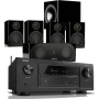 Denon AVR-X3400H AV Receiver w/ Monitor Audio Radius R90HT1 Speaker Package