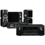 Denon AVR-X3400H AV Receiver w/ Q Acoustics 3000 Bookshelf Speaker Package (5.1)
