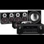 Denon AVR-X3400H AV Receiver w/ Dali Zensor 1 Bookshelf Speaker Package 5.1