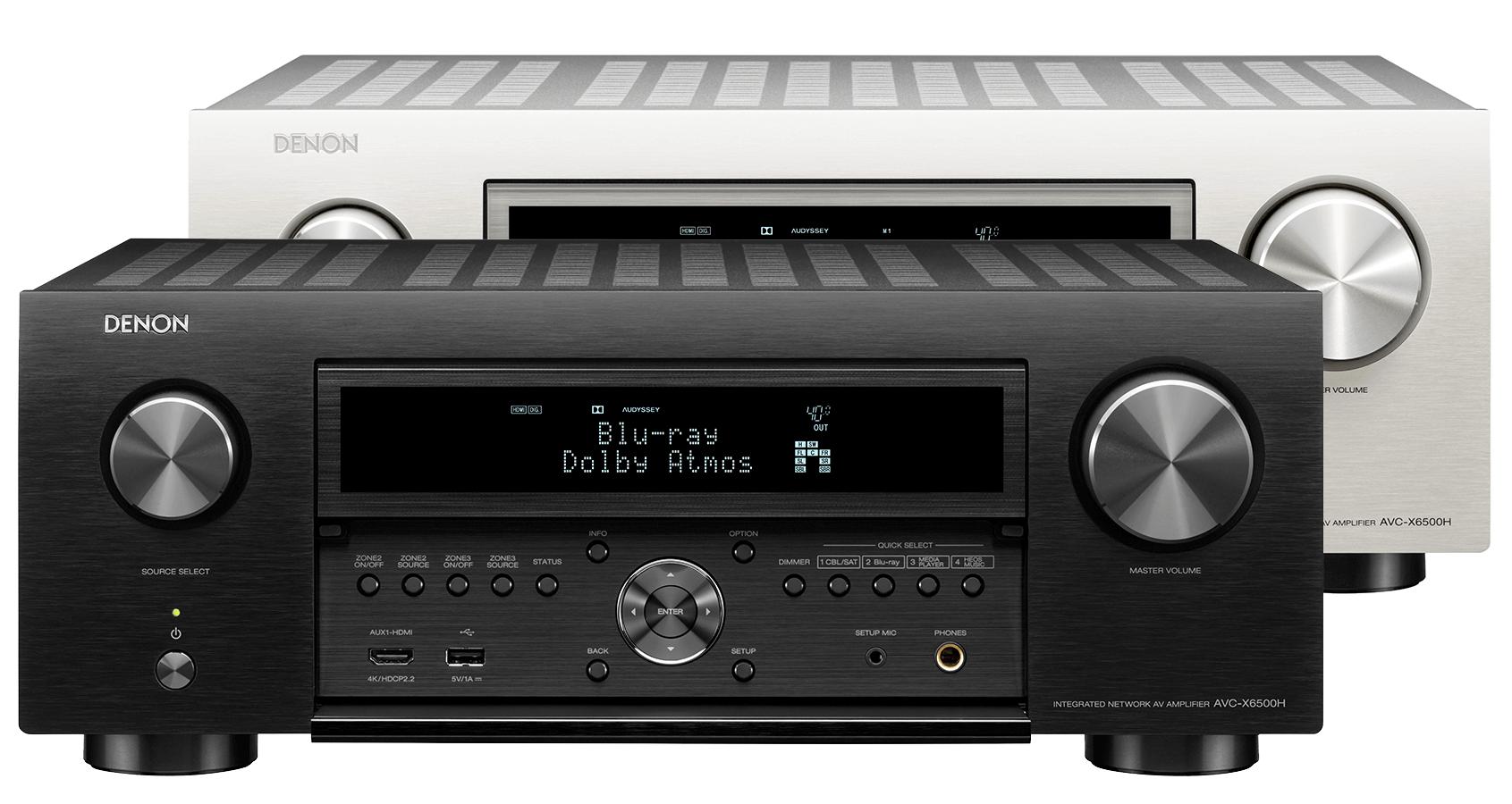Denon AVC-X6500H AV Receiver w/ Monitor Audio Silver 200 Speaker Package