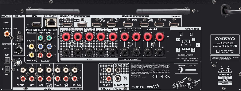 Onkyo TX-NR686 AV Receiver